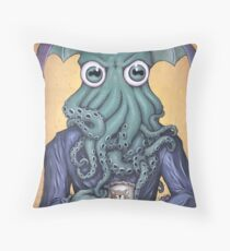 ChaiThulhu (Reign in Purple) Throw Pillow