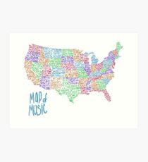 Map of Music Art Print