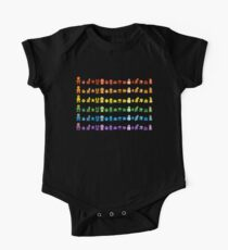 Rainbow Super Mario - Horizontal Version 1 One Piece - Short Sleeve