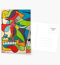 Cube Man 1 Postcards