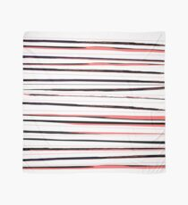 Beautiful old-fashion Stripes Watercolor Black and Red Pattern Scarf