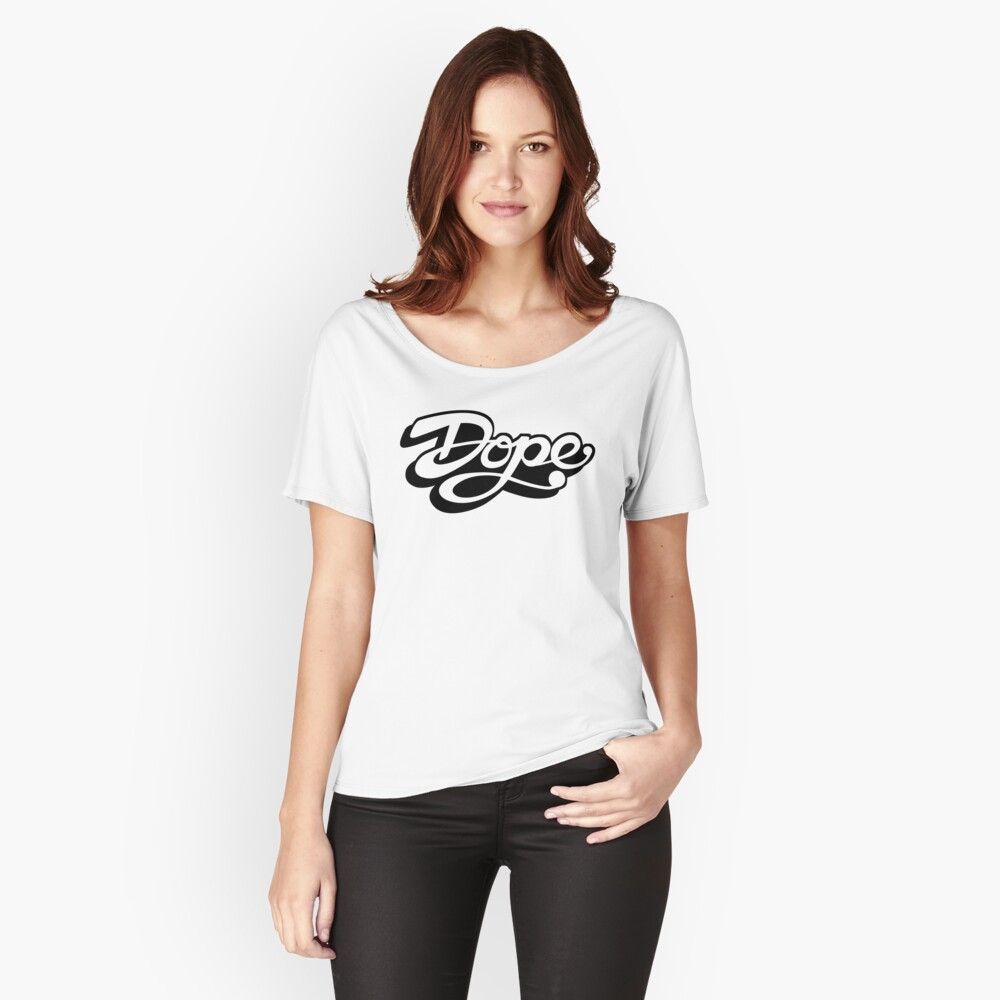Dope - Black Women's Relaxed Fit T-Shirt Front