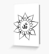 Ohm Mandala Greeting Card