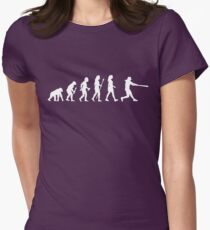 Womens Softball Evolution Womens Fitted T-Shirt