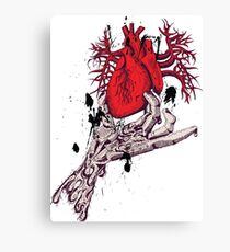 Hearth in Hand, Red and Naked hearth Canvas Print