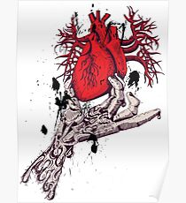 Hearth in Hand, Red and Naked hearth Poster