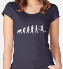 Womens Soccer Evolution Shirt Women's Fitted Scoop T-Shirt