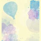 Hot Air Balloon in Watercolors by Jayca