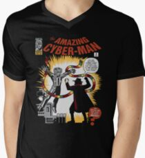The Amazing Cyber-Man! Mens V-Neck T-Shirt