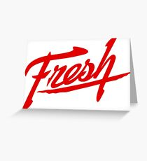 Fresh - Red Greeting Card
