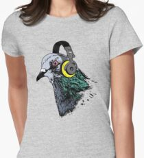 Techno Pigeon v2 Women's Fitted T-Shirt