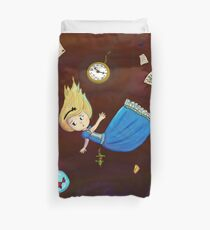 Alice Falling Down Rabbit Hole Duvet Cover