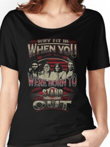 NATIVE AMERICAN WHY FIT IN WHEN YOU WERE BORN TO STAND OUT Women's Relaxed Fit T-Shirt