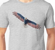 American Flag Bald Eagle Unisex T-Shirt