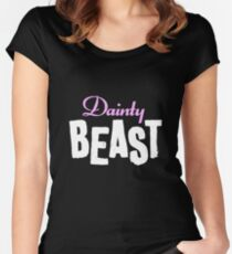 Dainty Beast (on black) Women's Fitted Scoop T-Shirt