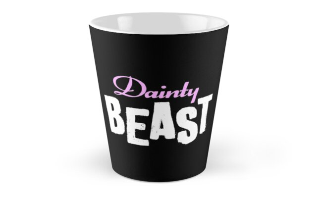 Dainty Beast (on black) by DamnAssFunny