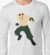 Minimalist Alex (Street Fighter Three) Long Sleeve T-Shirt