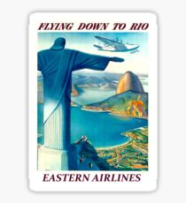 EASTERN AIRLINES; Fly To Rio Advertising Print Sticker