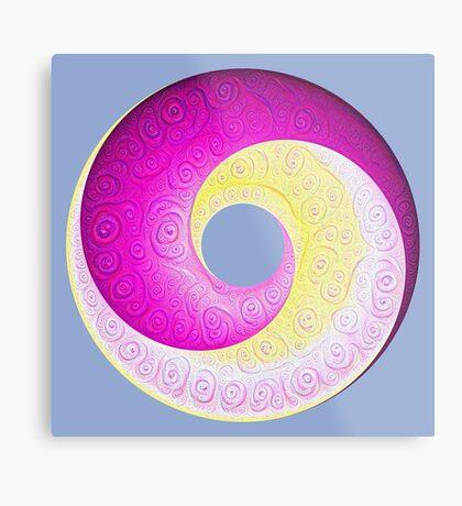 #DeepDream Color Circles Visual Areas 5x5K v1448901772 Metal Print