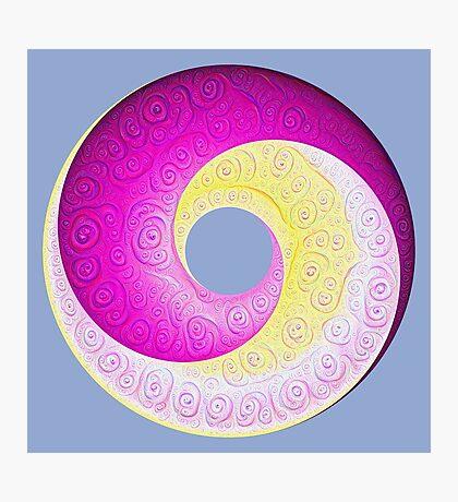 #DeepDream Color Circles Visual Areas 5x5K v1448901772 Photographic Print