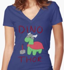 Dino - Thor Women's Fitted V-Neck T-Shirt
