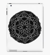 Black Brush Mandala iPad Case/Skin