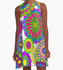 Happy Hippy Flowers A-Line Dress