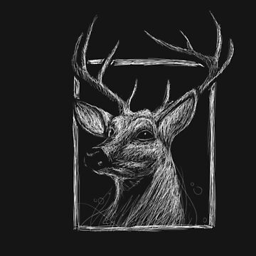 Deer - Abstract by salotte