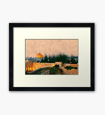 Israel, Jerusalem, the Wailing Wall and Dome of the Rock Framed Print