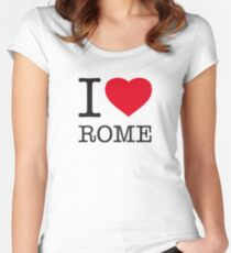 I ♥ ROME Women's Fitted Scoop T-Shirt