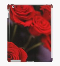 Analog photo of bunch bouquet of red roses iPad Case/Skin