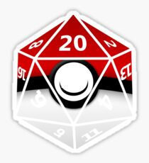 Pokeball D20 Sticker