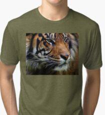 Sumatran Tiger Wildlife Big Cat-Lover Tri-blend T-Shirt