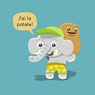 I Feel Good Elephant by pencilfury