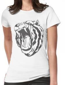 Angry tiger Womens Fitted T-Shirt