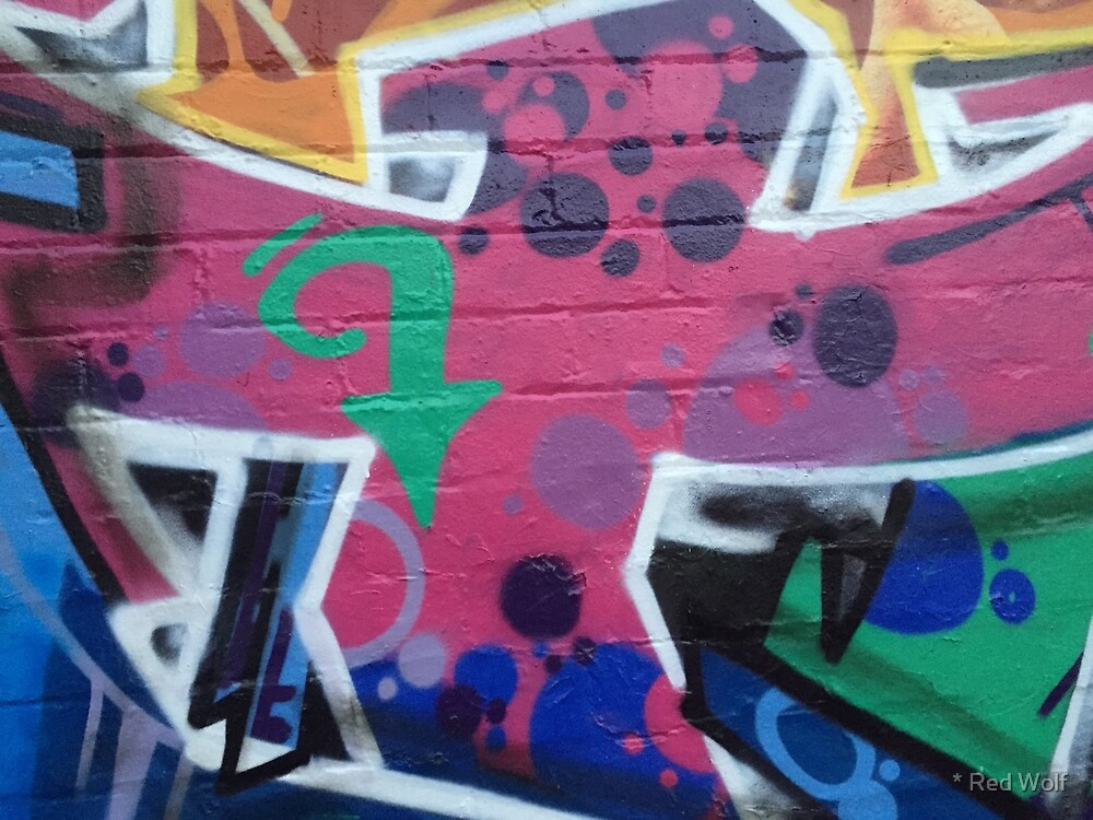 Graffiti: Green Arrow on Pink by * Red Wolf