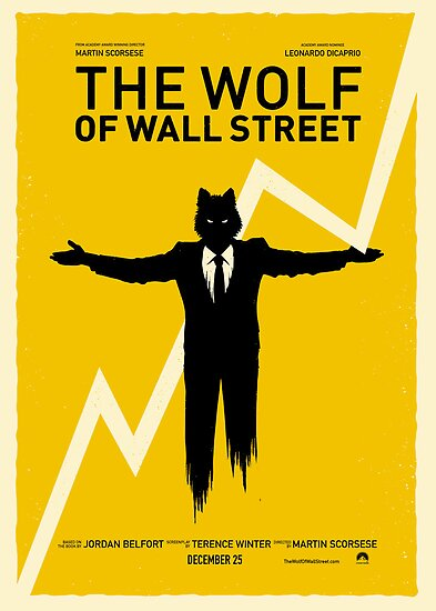 quotthe wolf of wall street posterquot posters by brodiep