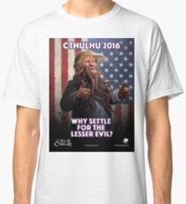 WHY SETTLE FOR THE LESSER EVIL? (King in Orange) Classic T-Shirt