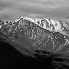 Mountains over Windwhistle, New Zealand by Norman Repacholi