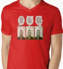 Bertha's Been Busted Mens V-Neck T-Shirt