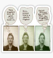 Bertha's Been Busted Sticker