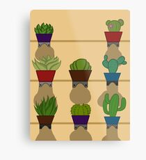 Lámina metálica cacti -vertical