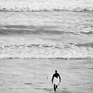 Afternoon surfing session, New Zealand by Norman Repacholi
