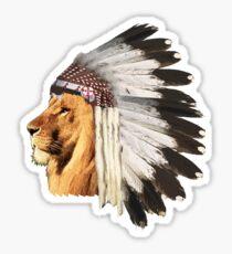 Lion Chief Sticker