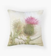 Pink on Green Throw Pillow