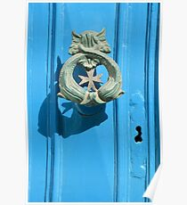 Knock Knock - A Traditional Maltese Door Knocker Poster
