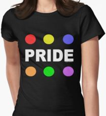 Pride Circles (for dark colors) Womens Fitted T-Shirt