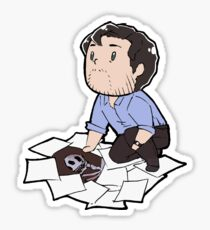 Tiny Will with Papers Sticker