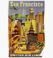 UNITED AIR LINES; Fly to San Francisco Print Poster