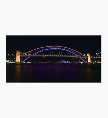 Coloured Bridge Photographic Print